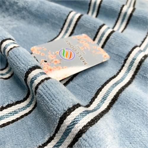 Полотенца банные велюровые полосы