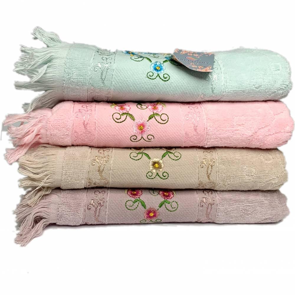 Полотенца для лица велюровые с бахромой