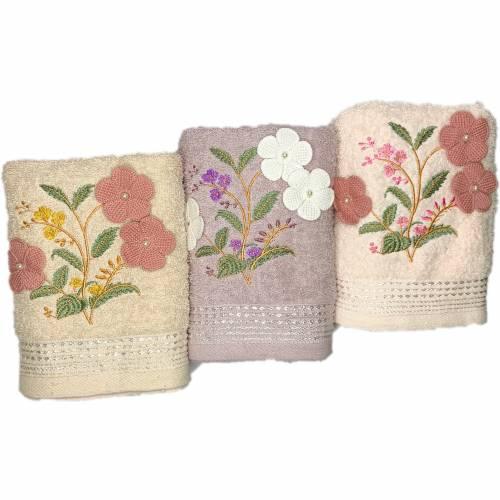 Рушники для обличчя 3 квітки