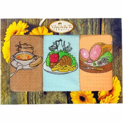 Набор вафельных полотенец для кухни
