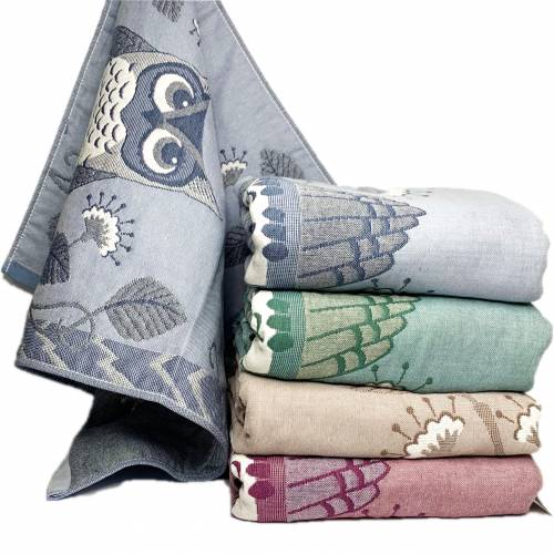 Полотенца для лица лён Сова