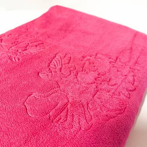 Крыжма-полотенце микрофибра Розовая