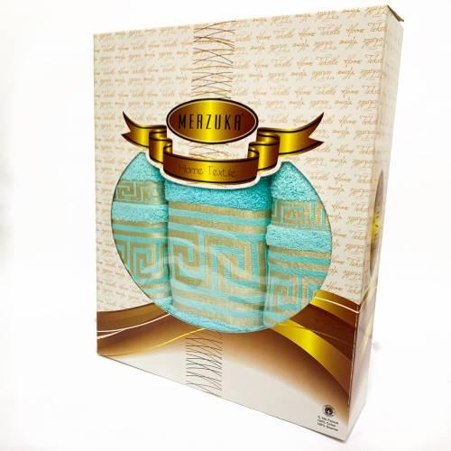 Набор полотенец квадрат золото
