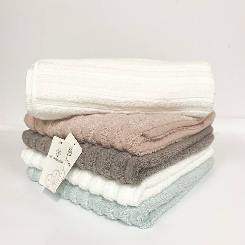Полотенца банные полосатые