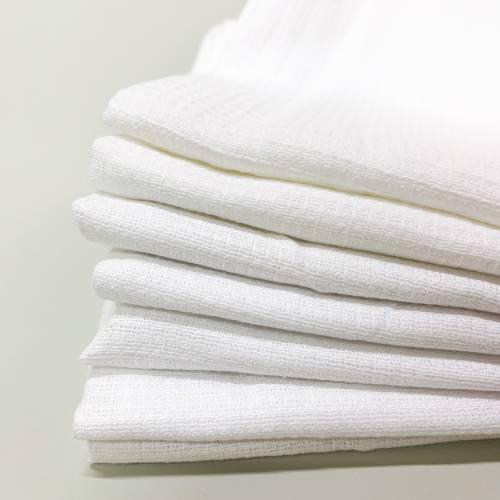 Полотенца вафельные белые