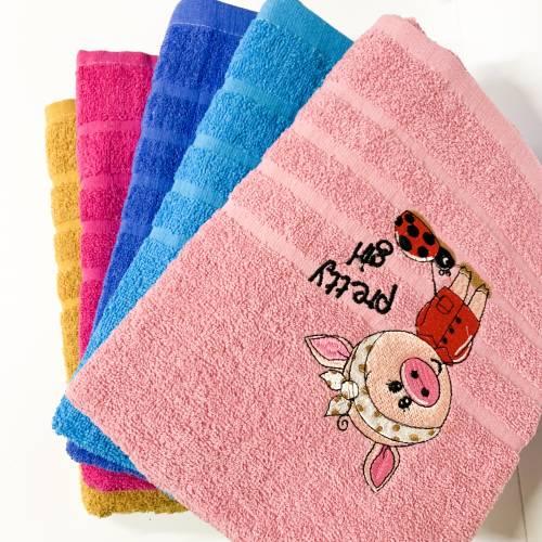 Банные полотенца Свинка Girl