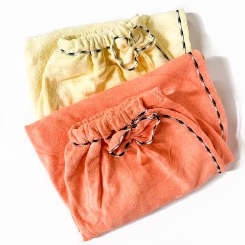 Полотенце-халат на пуговице яркий