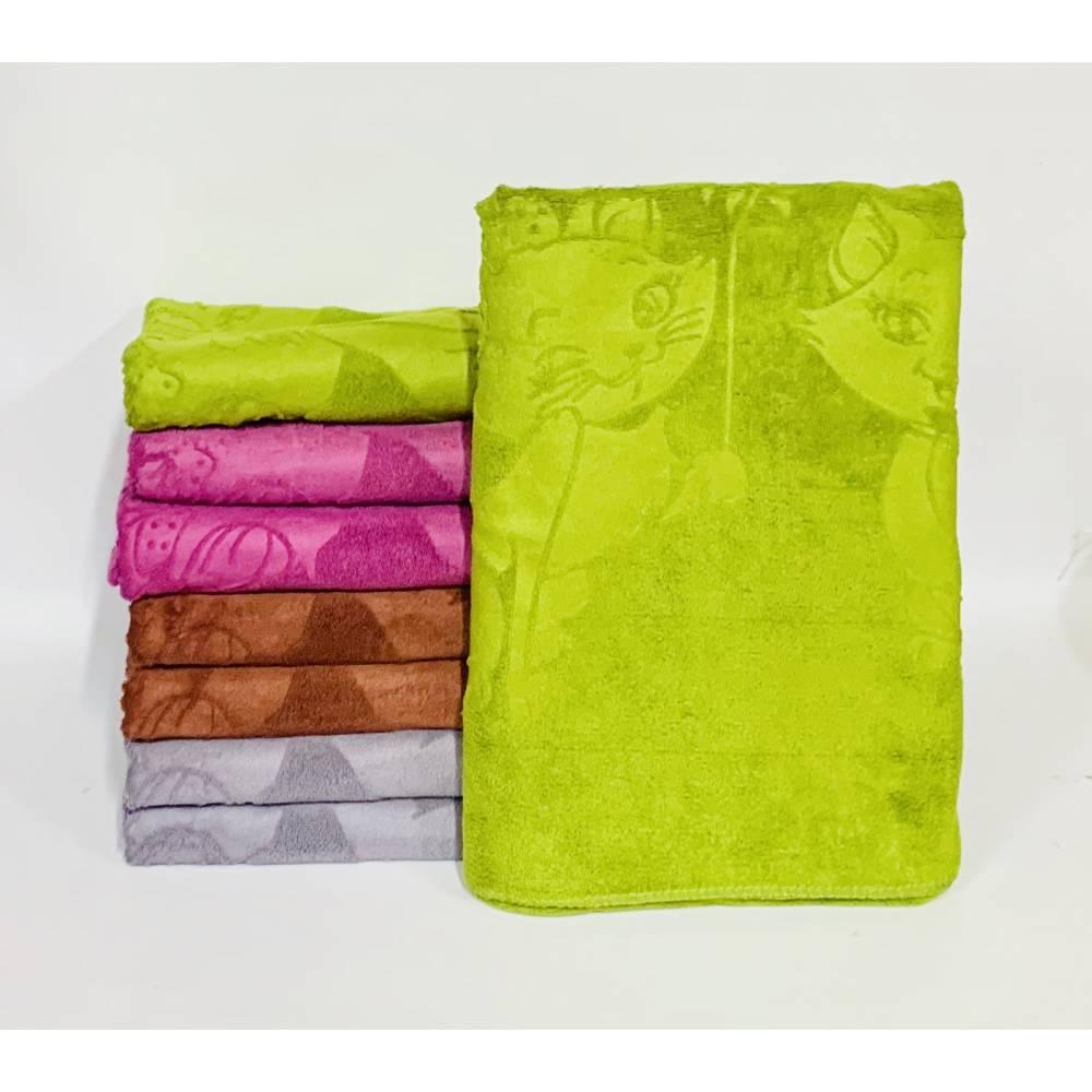 Банные полотенца Кот с розой