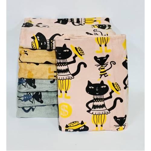 Банные полотенца Котики