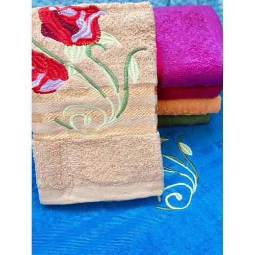Метровые полотенца Красная Розочка