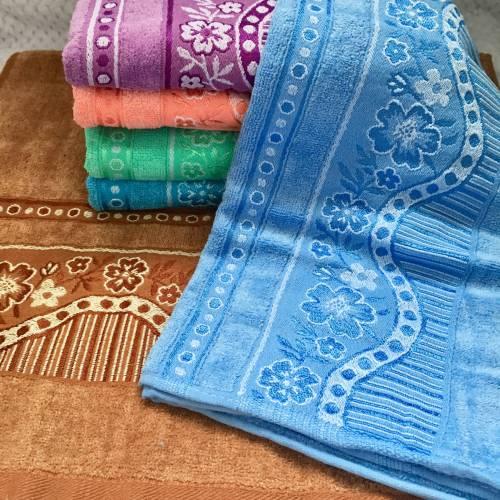 Метровые полотенца Велюр - Цветок
