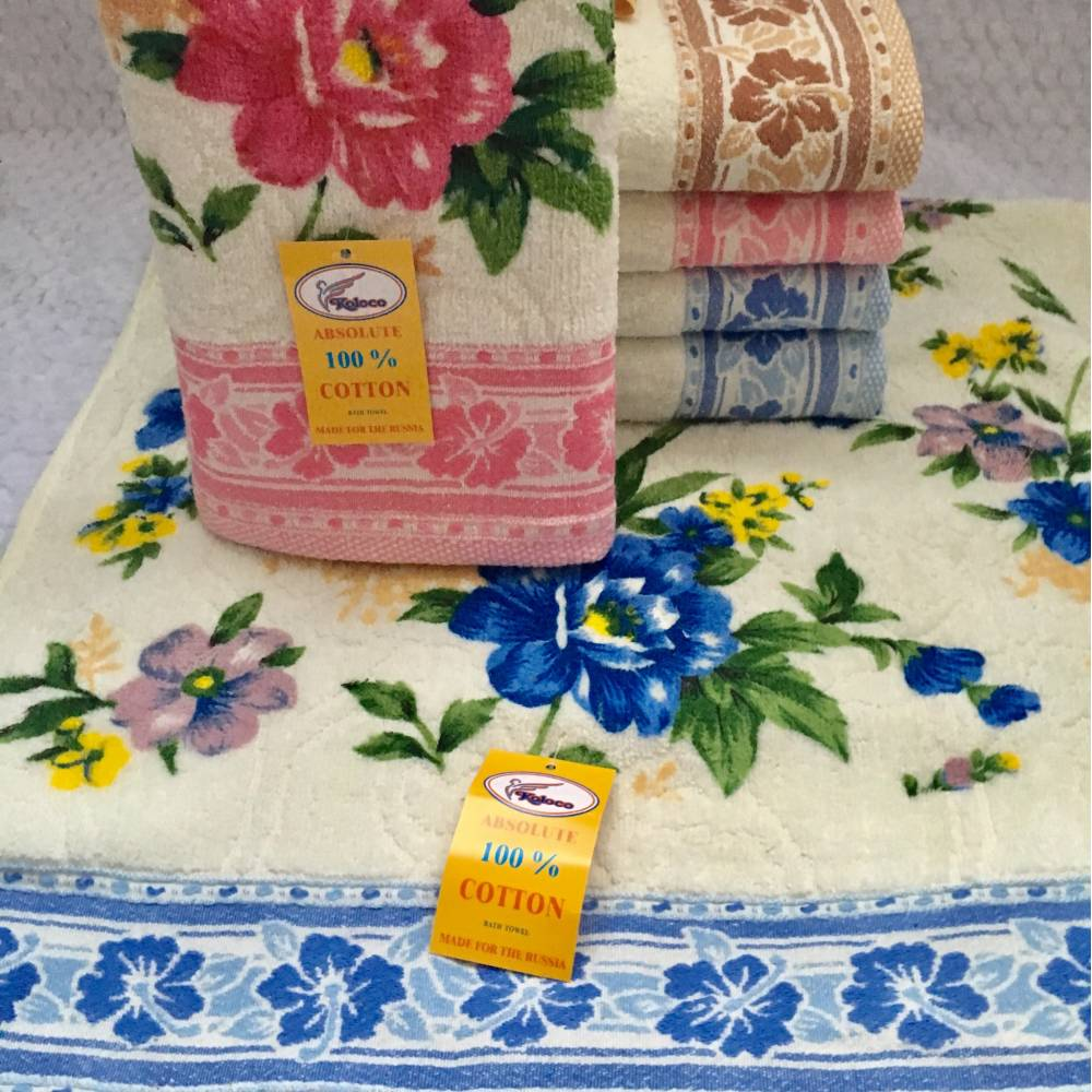 Метровые полотенца Пион - Велюр