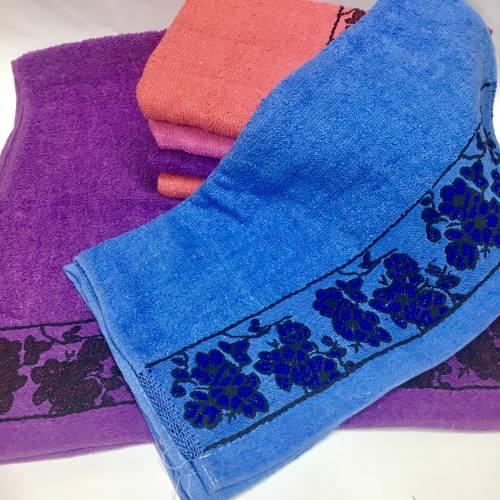 Банные полотенца Цветочки 055