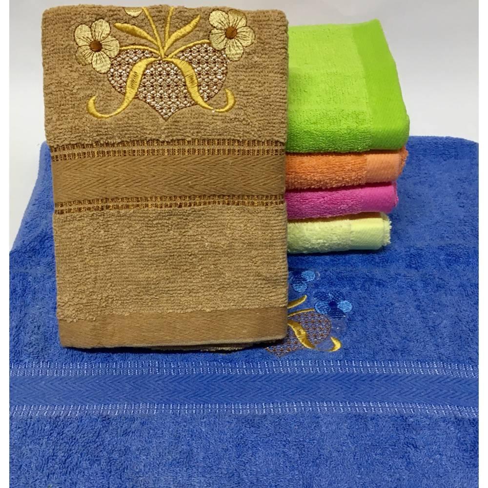 Метровые полотенца Сердечко - Цветочек