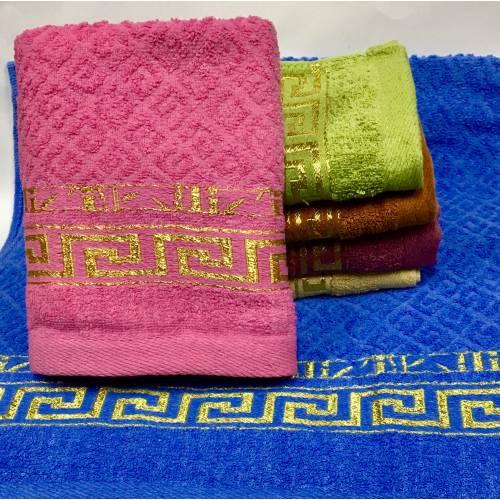 Метровые полотенца Версаче - золото тесненка