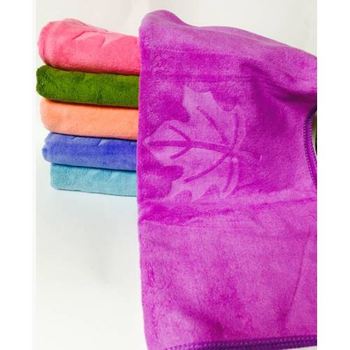 Банные полотенца Кленовый лист микрофибра