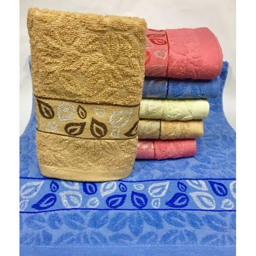 Банные полотенца Серебристый Листик