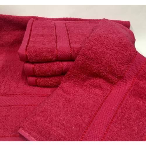 Банные полотенца Малиновый Цвет