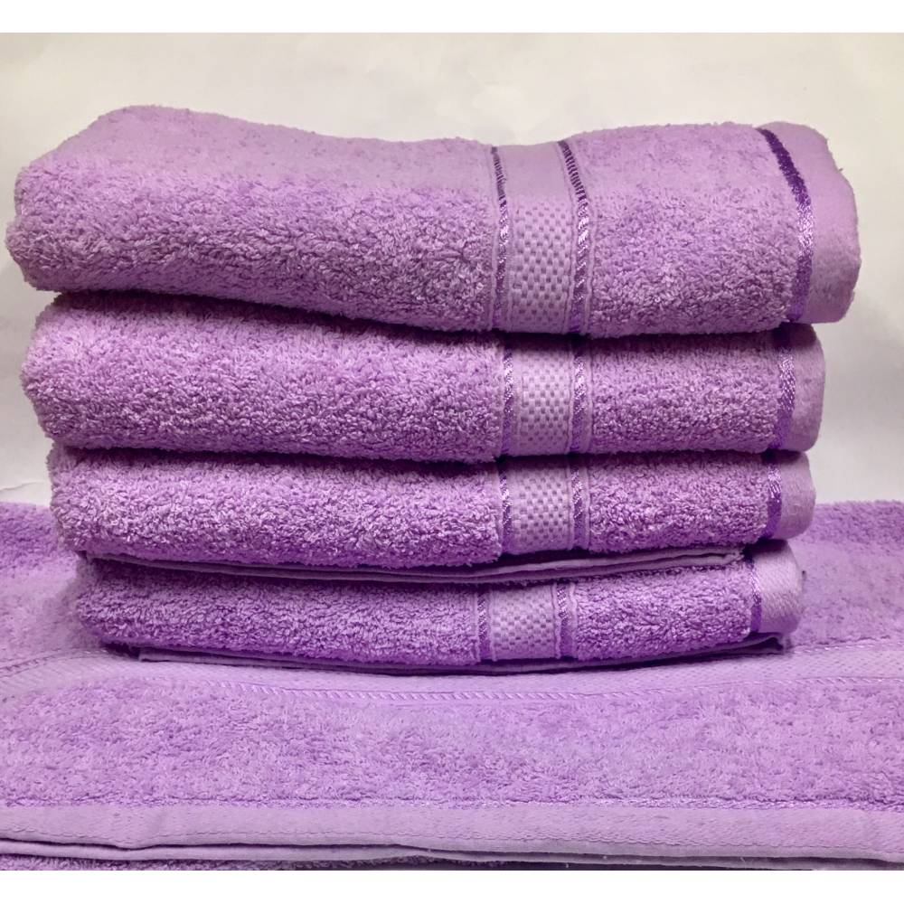 Банные полотенца Сиреневый цвет