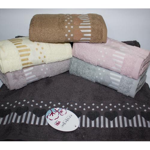 Банные турецкие полотенца Сердечко