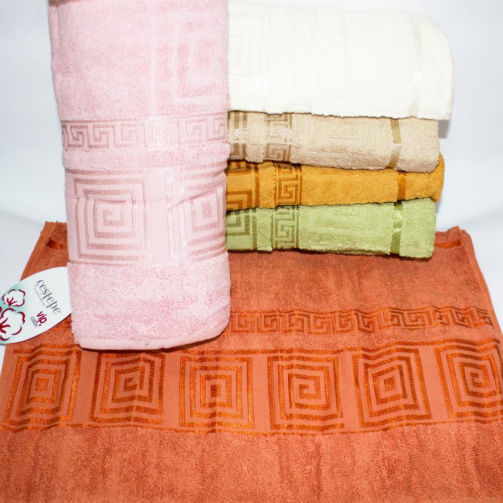 Метровые турецкие полотенца Золотое Версаче