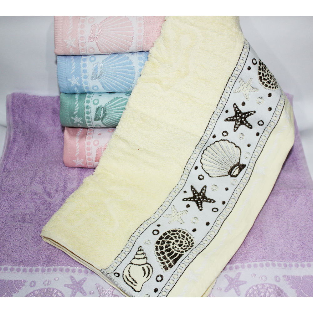 Банные турецкие полотенца Морское дно