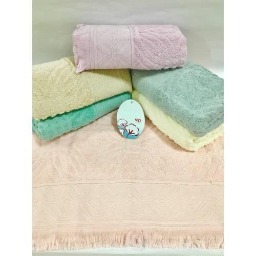 Банные турецкие полотенца Бахрома ViP