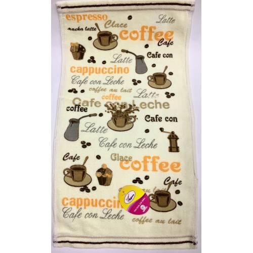 Полотенца для рук Кофе - Велюр