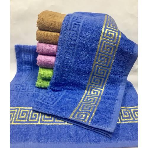 Банные полотенца Версаче - золото.