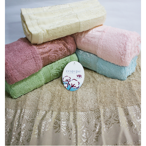 Метровые турецкие полотенца Ажурный Вензель