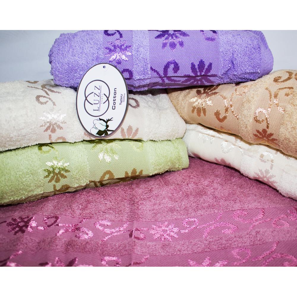 Метровые турецкие полотенца Цветки - Завитки