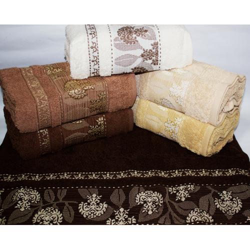Банные турецкие полотенца Темный Вензель