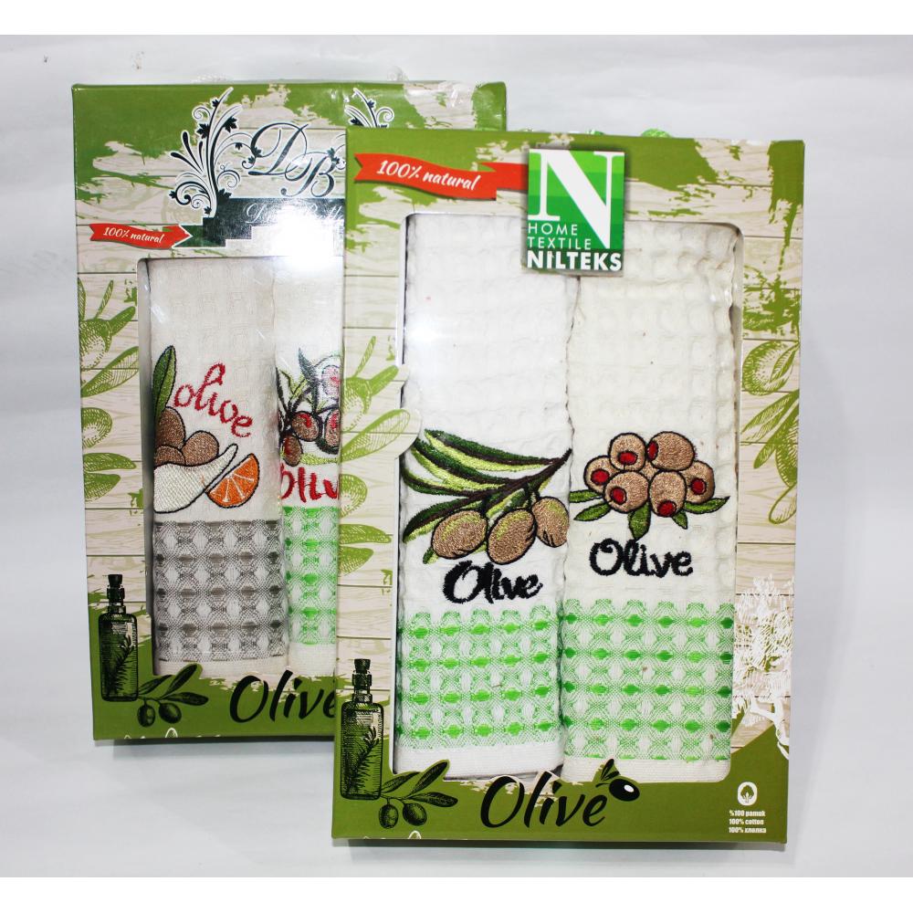 Набор вафельных полотенец Olive