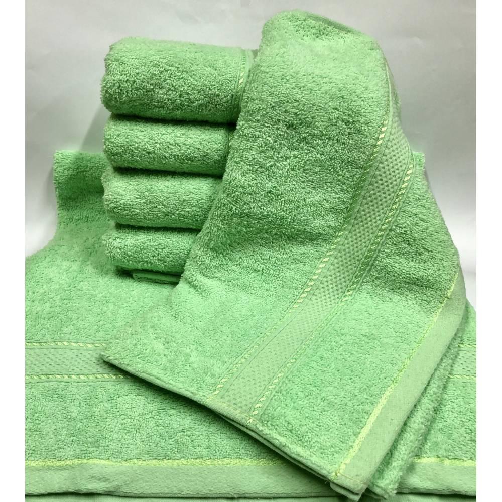 Банные полотенца Салатовый цвет