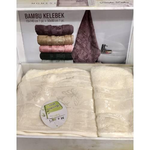 Набор турецких Бамбуковых полотенец MOMENT