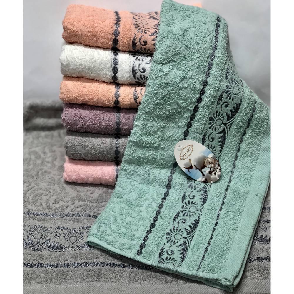 Банные полотенца Серебристый Вензель