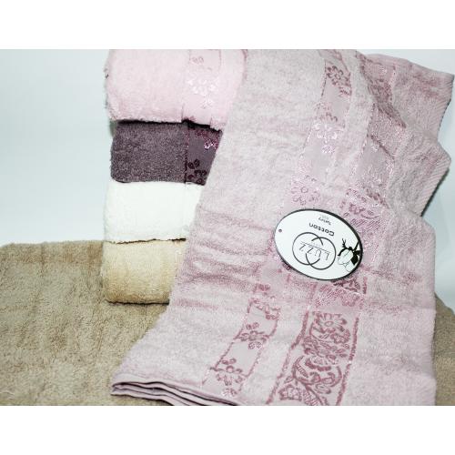 Банные турецкие полотенца LUZZ Цвети