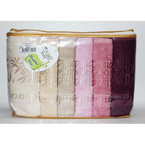 Метровые турецкие бамбуковые полотенца Веточки
