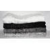 Банные турецкие бамбуковые полотенца Черно - белые