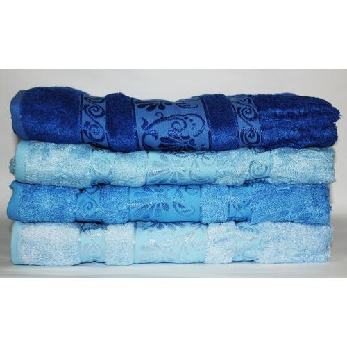 Банные турецкие бамбуковые полотенца Голубое небо