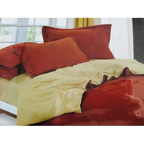 Однотонное Двуспальное постельное белье