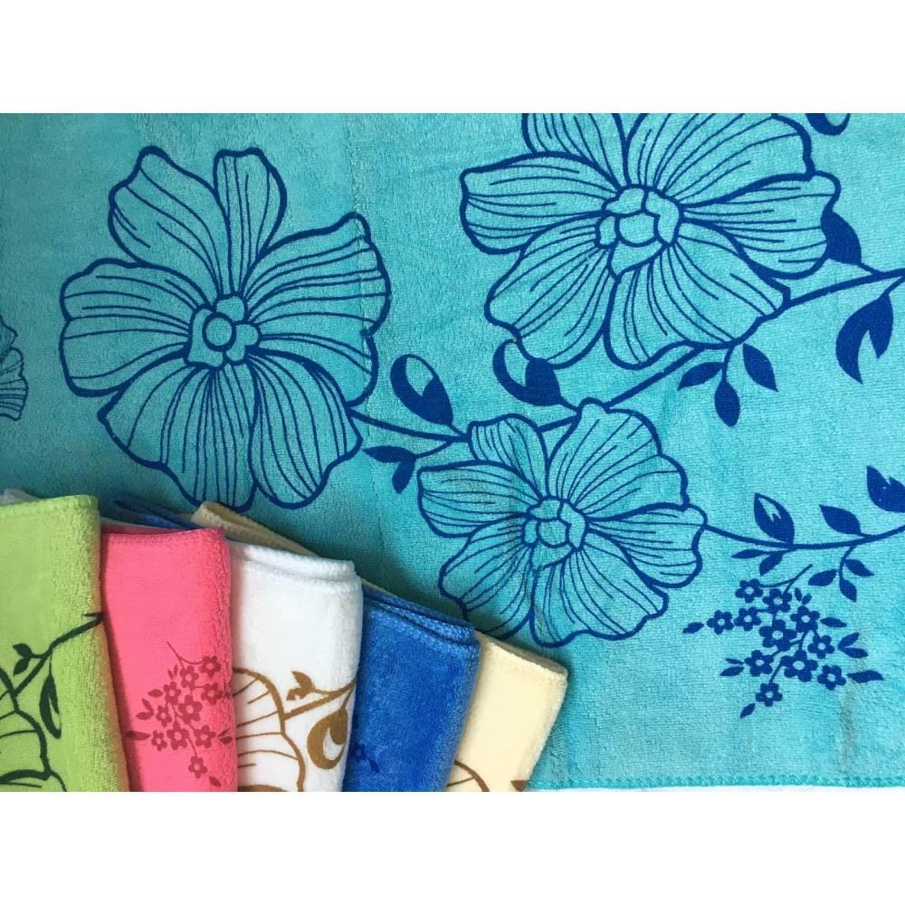 Полотенца для рук Цветок микрофибра
