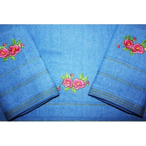 Однотонные метровые полотенца Два цветка