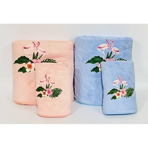 Набор полотенец Фламинго