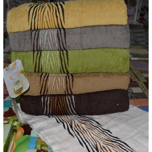 Лицевые полотенца зебра-01 Vip cotton